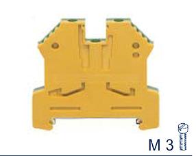 SL 4/35 Ex GNYE Проходная клемма заземления взрывозащищенная, Винтовое соединение, 4 mm², Conta Clip