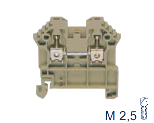 RK 2,5/35/N/2Q BG Проходная клемма, Винтовое соединение, 2,5 mm², 800 V, 24 A, Conta Clip