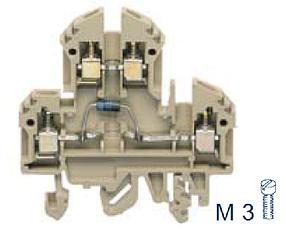 RKD 4/D0 BG Двухуровневая клемма с диодом, Винтовое соединение, 4 mm², 400 V, 10 A, Conta Clip
