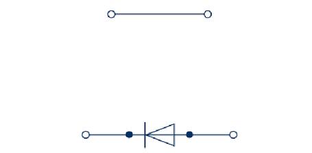 RKD 4/D0 BG Двухуровневая клемма с диодом, Винтовое соединение, 4 mm², 400 V, 10 A, Conta Clip, фото 2