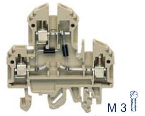 RKD 4/D3 BG Двухуровневая клемма с диодом, Винтовое соединение, 4 mm², 400 V, 10 A, Conta Clip
