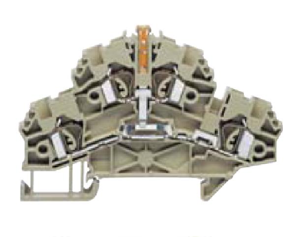 ZRKD 2,5/SV BG Проходная клемма, Натяжная пружина, 2,5 mm², 500 V, 24 A, Conta Clip