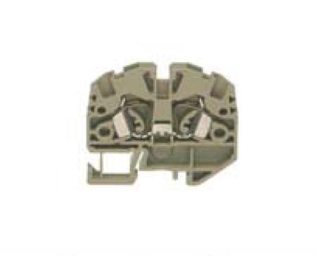 ZSRK 2,5/2A/15 BG Проходная клемма, Натяжная пружина, 2,5 mm², 800 V, 24 A, Conta Clip, фото 2