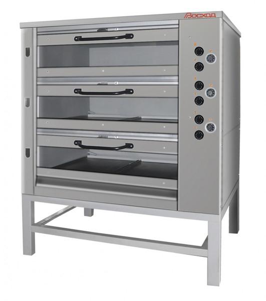 Хлебопекарная ярусная печь ХПЭ-750/3С (нержавеющая облицовка, стеклянные дверки).
