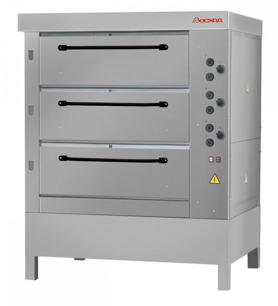 Хлебопекарная ярусная печь ХПЭ-750/3 (нержавеющие облицовка и дверки).