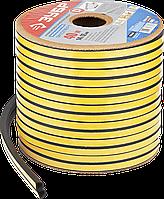 Уплотнитель самоклеящийся промышленный, 14 х 12 мм, 40 м, черный, D-профиль, серия «ЭКСПЕРТ», ЗУБР