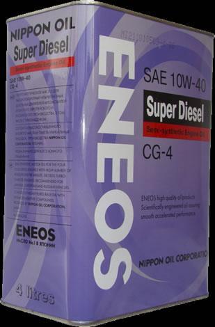 Моторное масло ENEOS SUPER DIESEL SEMI-SYNTHETIС 10W-40 4L