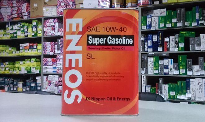 Моторное масло ENEOS SUPER GASOLINE SL Semi-Synthetic 10W-40 1L