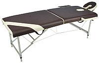 Массажный стол складной алюминиевый JFAL01A 2-х секционный