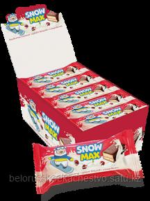 """Бисквитное пирожное """"Snow Max"""" Глазиров. с вишневой начинкой"""
