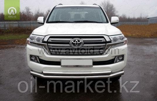 Защита переднего бампера, двойная для Toyota Land Cruiser 200 ( 2015-