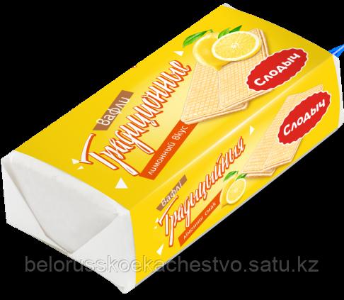 """Вафли """"Традиционные"""" лимонный вкус, 100 г."""