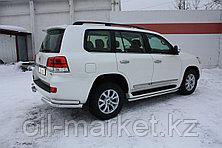 Защита заднего бампера, уголки двойные для Toyota Land Cruiser 200 ( 2015-, фото 3