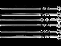 Шампуры Barbecue, угловые, 6 шт. в чехле, 450 мм, полиэтиленовый чехол, GRINDA
