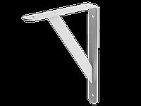 Уголок-кронштейн, усиленный профиль с распоркой, 250 х 200 х 30, нагрузка 80 кг, белый, STAYER