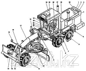 Прокладка 40819 на автогрейдер ДЗ-98