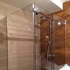 стеклянная Угловая душевая перегородка с раздвижной дверью