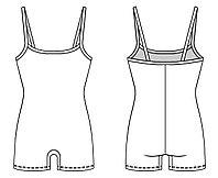 Комбинезон гимнастический на тонких бретелях/шорты ГК 11.03 FENIX ST