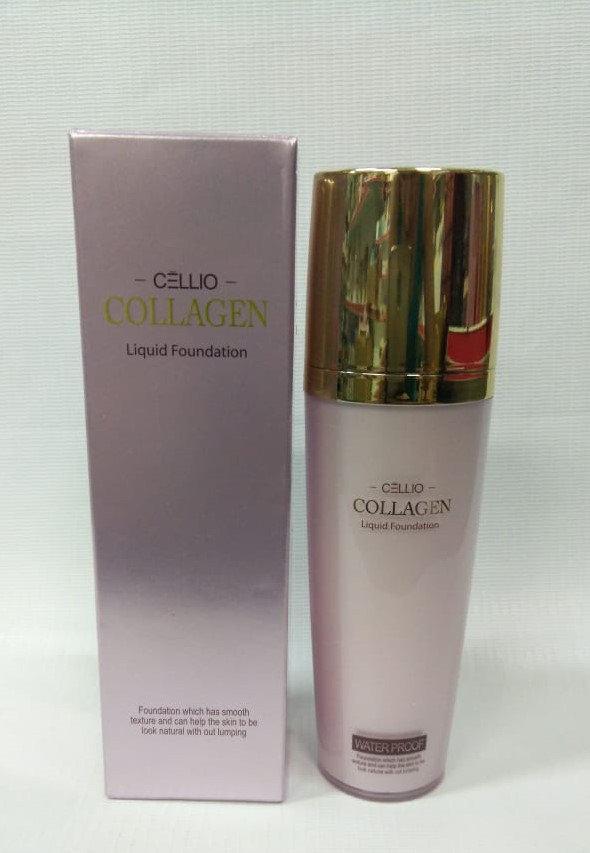 Тональная основа Cellio Collagen Liguid Foundation waterproof №21