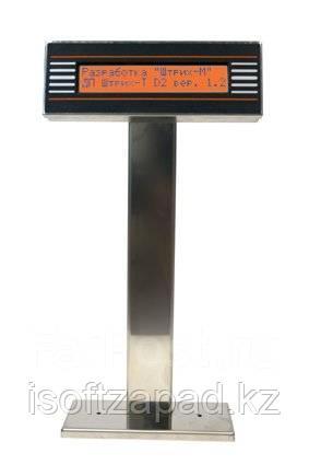 Дисплей покупателя ШТРИХ-T D2-USB-MN(нержавейка)(USB), фото 2