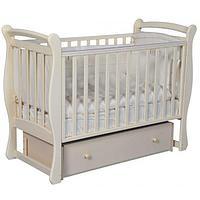 Детская кроватка Антел Julia-2 слоновая кость унив. маятник, фото 1