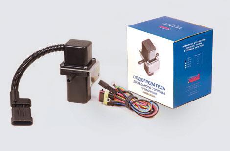 Подогрев дизельного топлива проточный ПП-102 с механическим отключением  (24В)