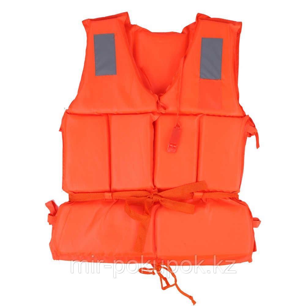 Спасательный детский жилет для плавания из пенистого материала (оранжевый)