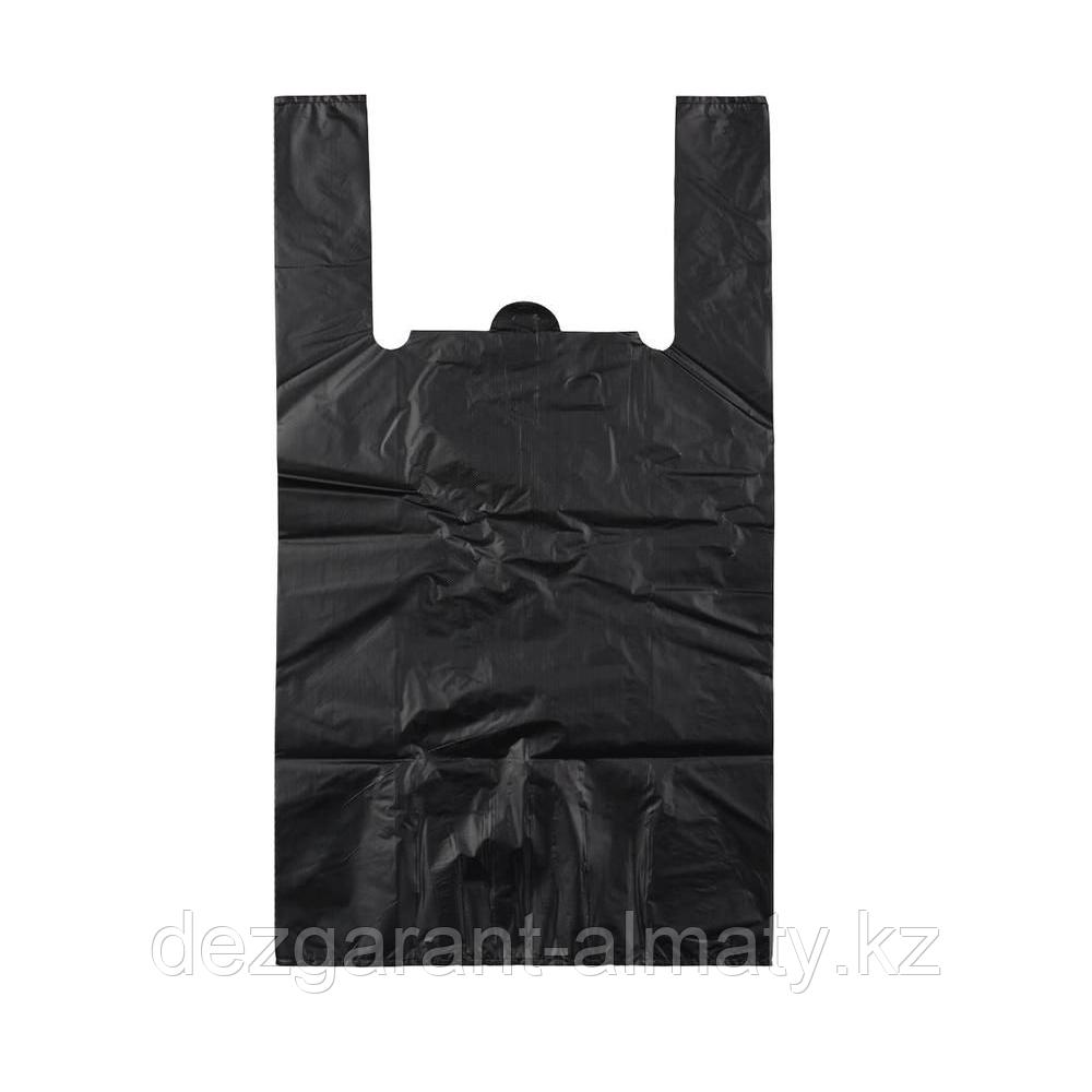 Пакет майка 30*50 без логотипа черная (рулон 40 шт)