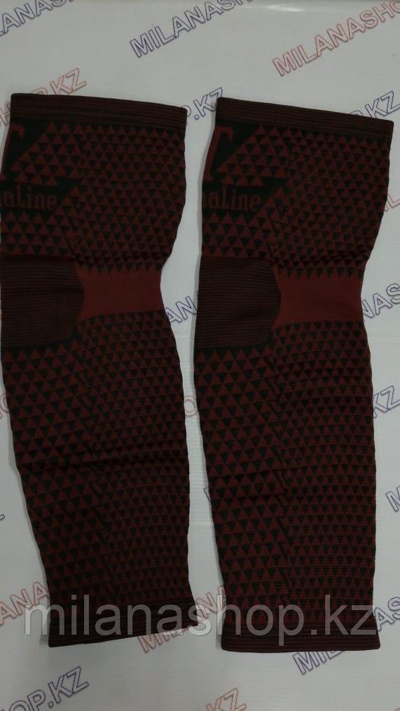 Турмалиновые наколенники эластичные ( красные длинные )