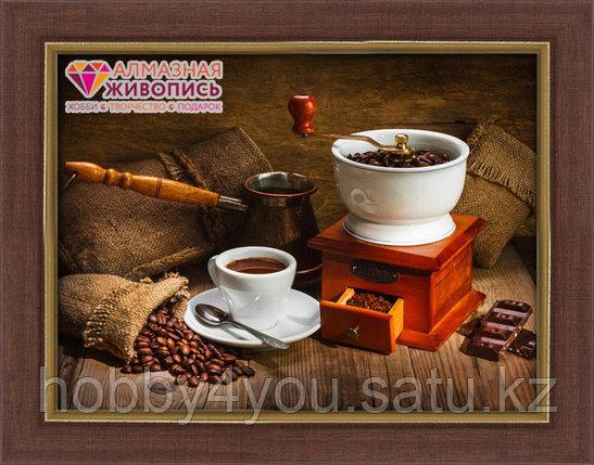 """Картина стразами на холсте """"Кофейный натюрморт"""", 45*60см, фото 2"""