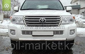 Защита переднего бампера, короткая овальная для Toyota Land Cruiser 200 ( 2012-2015), фото 2