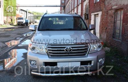 Защита переднего бампера, длинная круглая для Toyota Land Cruiser 200 ( 2012-2015), фото 2