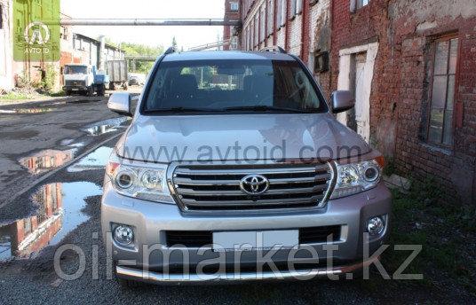 Защита переднего бампера, длинная круглая для Toyota Land Cruiser 200 ( 2012-2015)