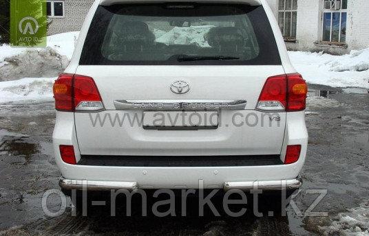 Защита заднего бампера, уголки одинарные для Toyota Land Cruiser 200 ( 2012-2015)