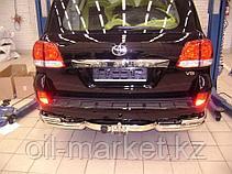 Защита заднего бампера, уголки двойные для Toyota Land Cruiser 200 ( 2012-2015), фото 2