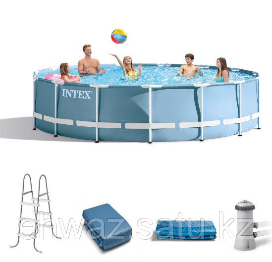 Каркасный прямоугольный бассейн Intex 457 на 107 см