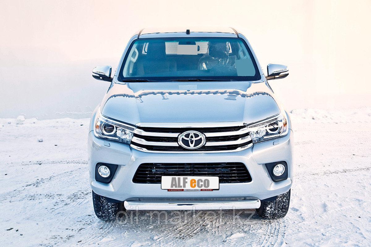 Защита переднего бампера, короткая овальная для Toyota Hilux ( 2015-2018)