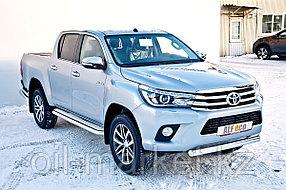 Защита переднего бампера, короткая овальная для Toyota Hilux ( 2015-2018), фото 2