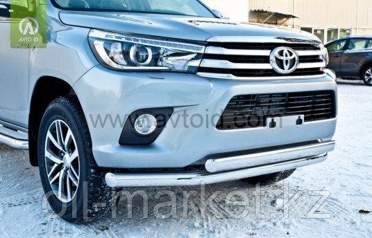 Защита переднего бампера, двойная для Toyota Hilux ( 2015-2018)
