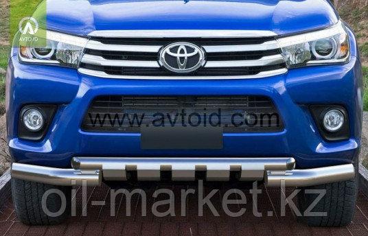 Защита переднего бампера, двойная с защитой Shark для Toyota Hilux ( 2015-2018)