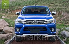 Защита переднего бампера, двойная с защитой Shark для Toyota Hilux ( 2015-2018), фото 2