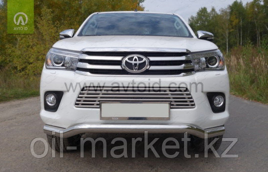 Защита переднего бампера, длинная волна Toyota Hilux ( 2015-2018)