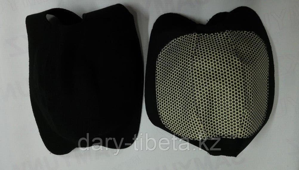 Турмалиновые Наколенники липучки (черные)