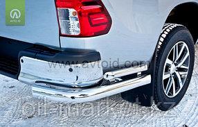Защита заднего бампера, уголки двойные для Toyota Hilux ( 2015-2018), фото 2