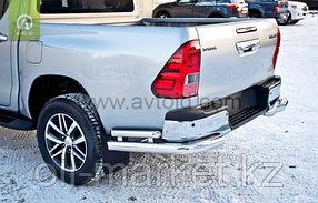 Защита заднего бампера, уголки двойные для Toyota Hilux ( 2015-2018), фото 3