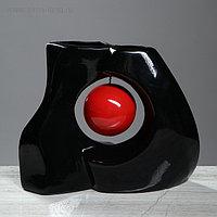 """Ваза настольная """"Принцип"""", чёрный цвет, 25 см, керамика"""