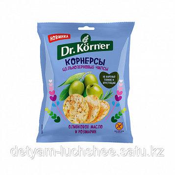 Безглютеновые Чипсы цельнозерновые Dr. Korner с оливковым маслом и розмарином