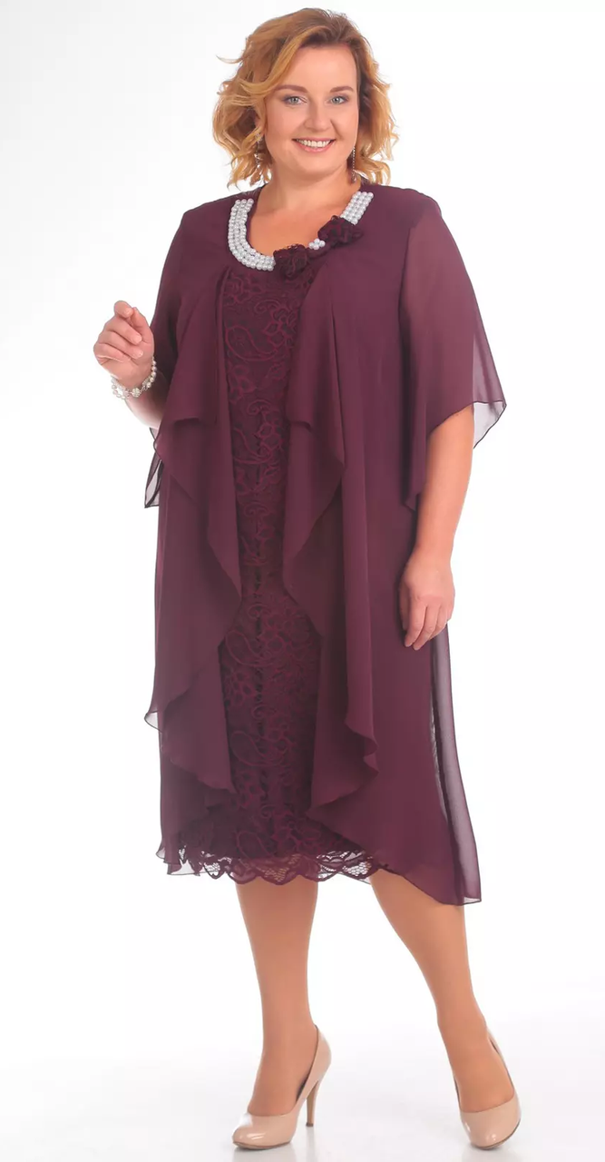 Платье Pretty-343/2, марсала, 56