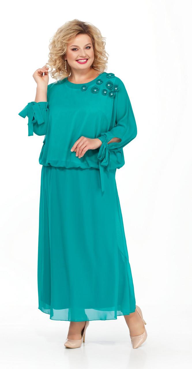 Платье Pretty-814/4, бирюза, 56