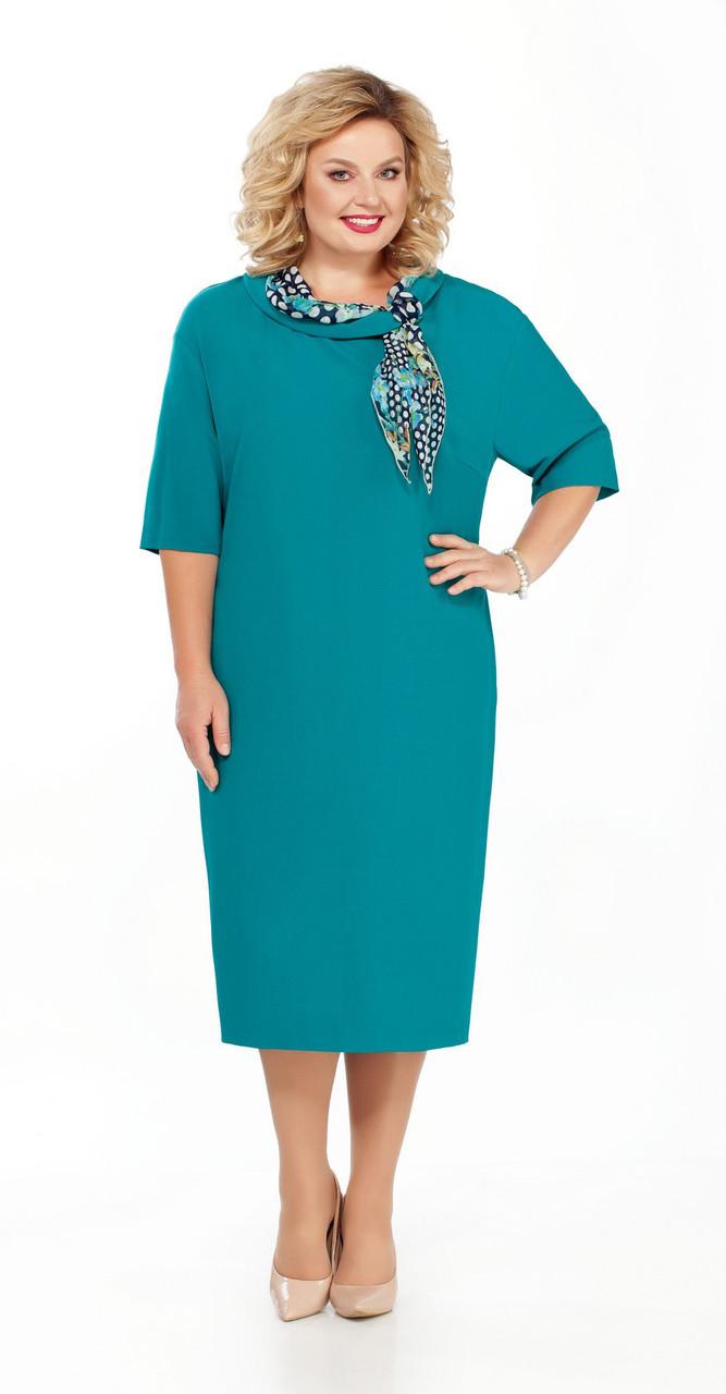 Платье Pretty-867/1, бирюза, 50